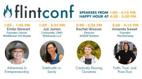 Schedule/Webinar Graphic for FlintConf 2020